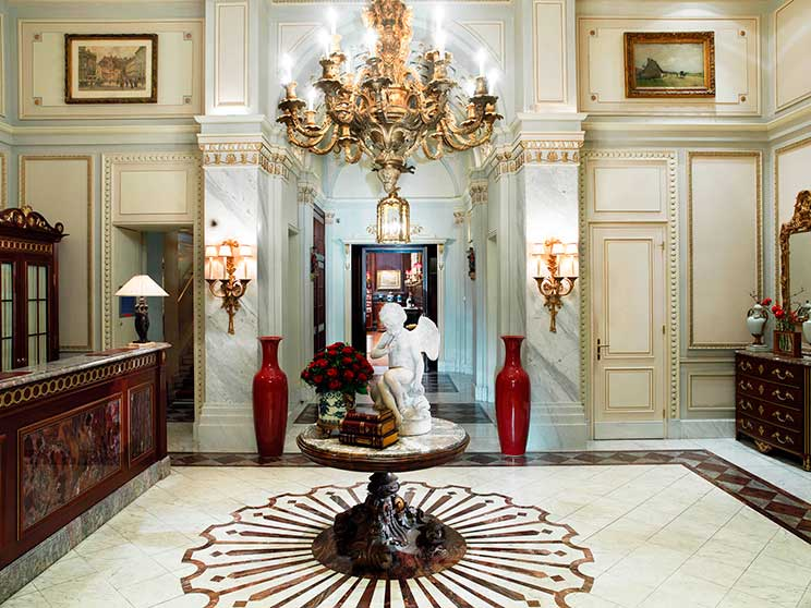 Lobby do Hotel Sacher, Viena